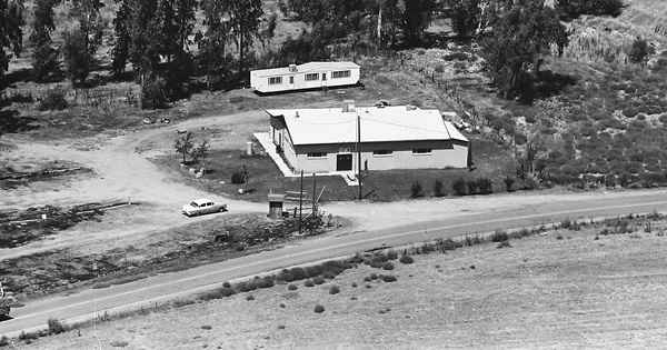 Vintage Aerial photo from 1965 in Stanislaus County, CA