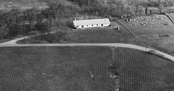 Vintage Aerial photo from 1981 in Athens County, OH
