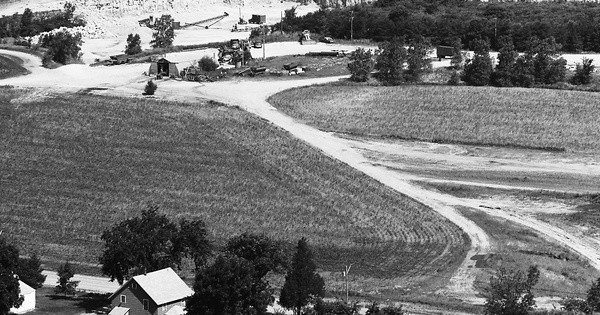 Vintage Aerial photo from 1973 in Winnebago County, IL