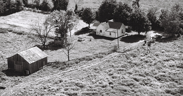 Vintage Aerial photo from 1981 in Lincoln County, KY
