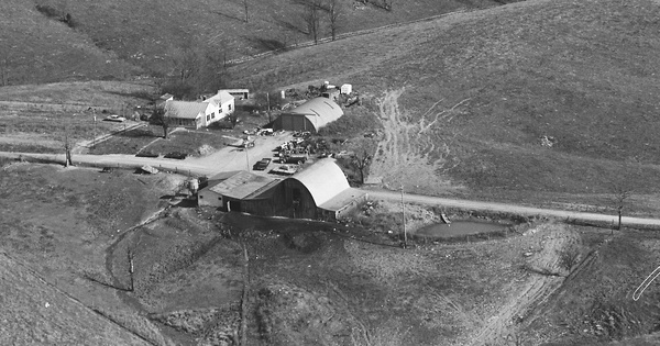 Vintage Aerial photo from 1981 in Owen County, KY