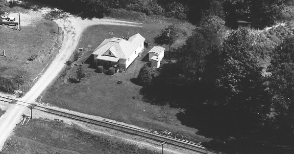 Vintage Aerial photo from 1985 in Barbour County, WV