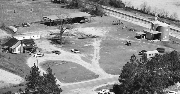 Vintage Aerial photo from 1981 in Miller County, GA