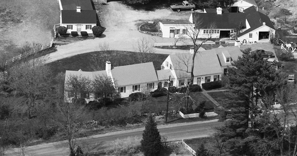 Vintage Aerial photo from 1987 in Norfolk County, MA