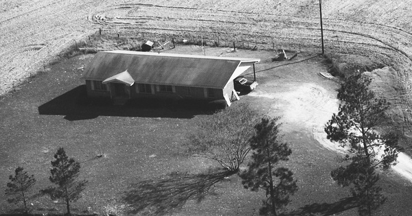 Vintage Aerial photo from 1984 in Evans County, GA