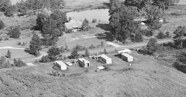 Vintage Aerial photo from 1982 in Lowndes County, GA