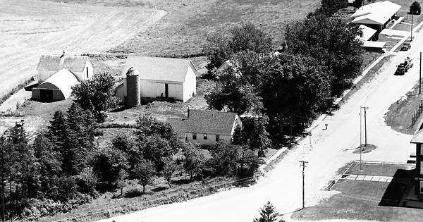 Vintage Aerial photo from 1971 in Clayton County, IA