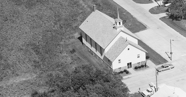 Vintage Aerial photo from 1980 in Keokuk County, IA