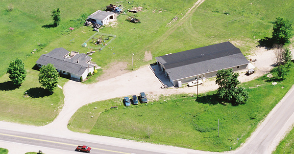 Vintage Aerial photo from 2001 in Charlevoix County, MI