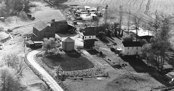 Vintage Aerial photo from 1972 in Union County, IN