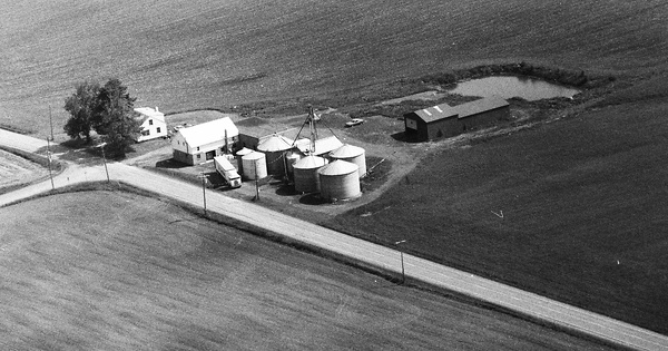 Vintage Aerial photo from 1992 in Cayuga County, NY