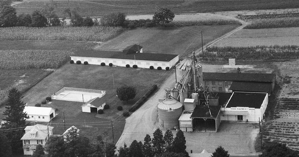 Vintage Aerial photo from 1995 in Schuylkill County, PA