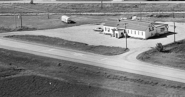 Vintage Aerial photo from 1968 in Lyon County, MN