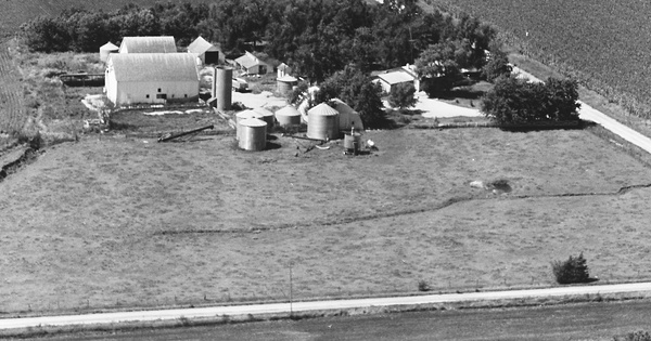 Vintage Aerial photo from 1981 in Brown County, KS