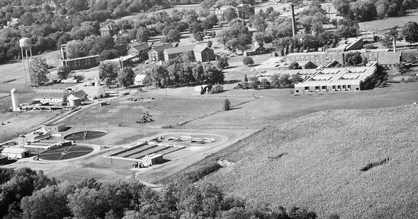 Vintage Aerial photo from 1984 in Johnson County, IN