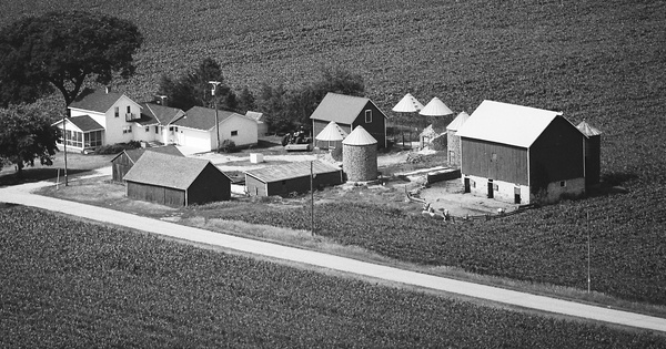 Vintage Aerial photo from 1976 in Columbia County, WI