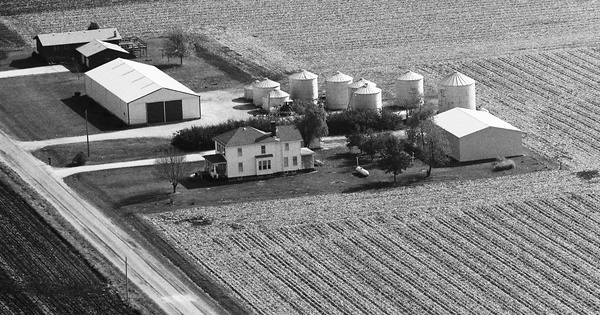 Vintage Aerial photo from 1989 in Morgan County, IL