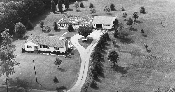 Vintage Aerial photo from 1969 in Stark County, OH