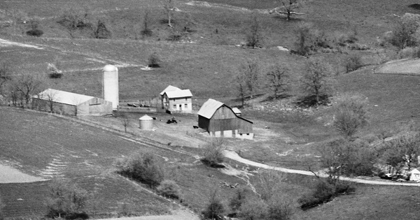 Vintage Aerial photo from 1987 in Grant County, WI