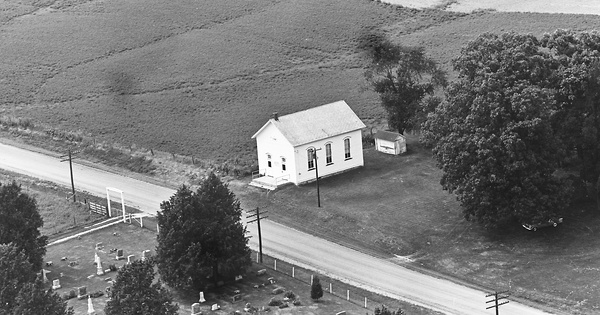 Vintage Aerial photo from 1965 in Peoria County, IL