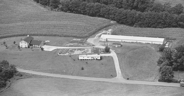 Vintage Aerial photo from 1981 in Lebanon County, PA