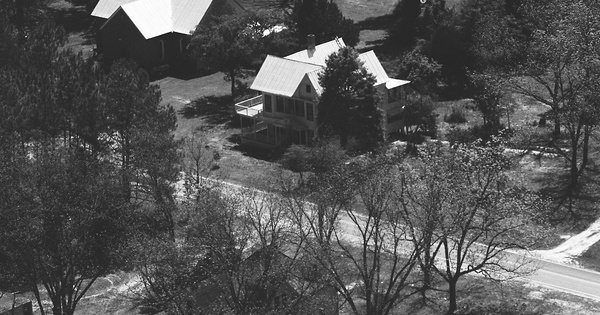 Vintage Aerial photo from 1983 in Burke County, GA