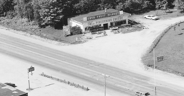 Vintage Aerial photo from 1983 in Bay County, MI