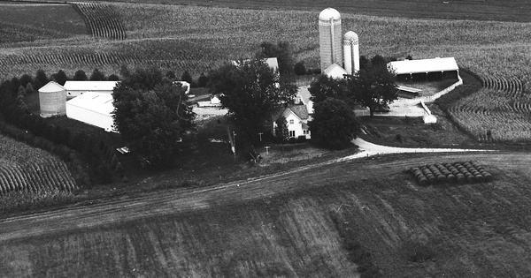 Vintage Aerial photo from 1988 in Mahaska County, IA