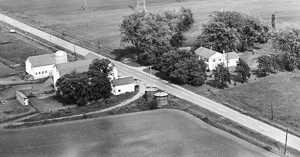 Vintage Aerial photo from 1965 in Lake County, IL