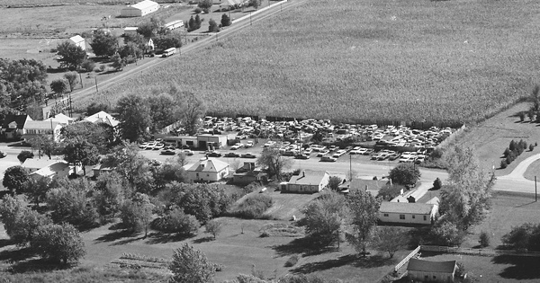 Vintage Aerial photo from 1977 in Preble County, OH